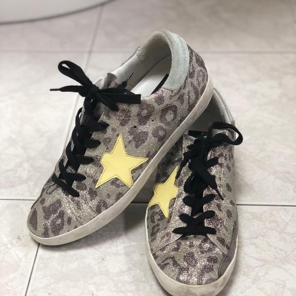 491af047a8e0 Golden Goose Shoes - GOLDEN GOOSE Deluxe Brand Glitter Leopard sz 38
